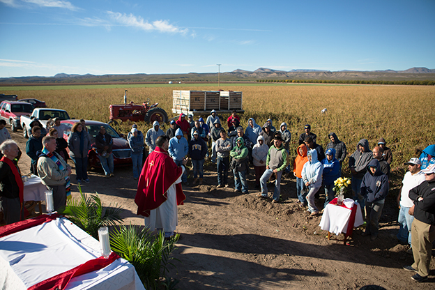 Catholic Mass in the fields with migrant farmworkers