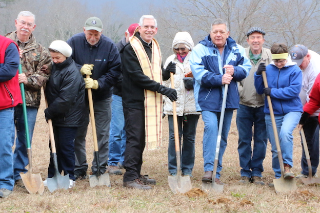 St michael the Archangel Mission Groundbreaking Erwin Tennessee