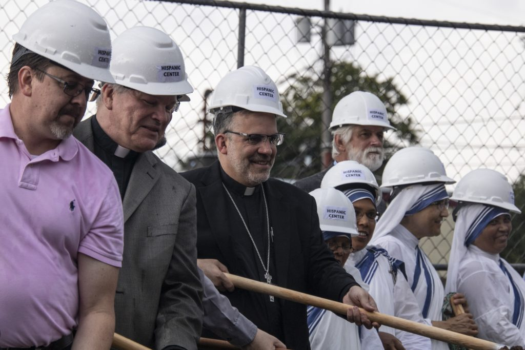Groundbreaking at St Juan Diego Center in Lexington