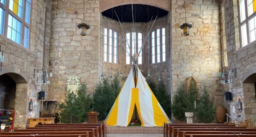 Teepee at St. Joseph Apache Mission in the Diocese of Gallup