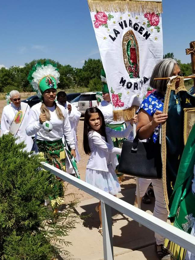 Parishioners at Our Lady of Sorrows in New Mexico